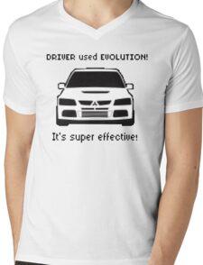 Mitsubishi Evo used Evolution It was Super Effective! Pokemon Gag Sticker / Tee - Black Mens V-Neck T-Shirt