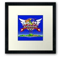 Sonic & Tails Framed Print