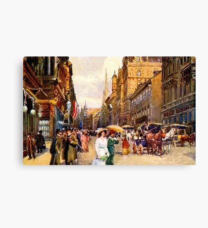Great vintage belle epoque scene Vienna Austria Canvas Print