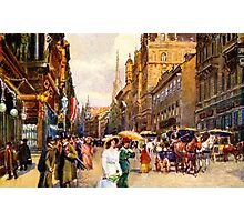 Great vintage belle epoque scene Vienna Austria Photographic Print