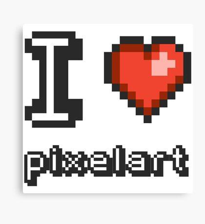 I Love Pixelart Canvas Print
