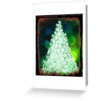 Bokeh Christmas. Greeting Card