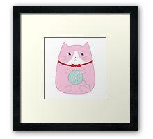 YARN KITTY Framed Print