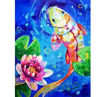 Koi and Lily Photographic Print