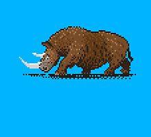 Prehistoric Pixels - Woolly Rhino  by SevenHundred