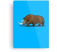 Prehistoric Pixels - Woolly Rhino  Metal Print