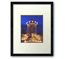 Fountain at Night Framed Print