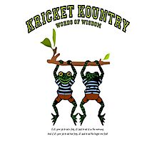 KRICKET KOUNTRY Words of Wisdom on eating FROGS! Photographic Print