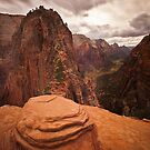 Angels Landing Zion National Park by Rob Lodge