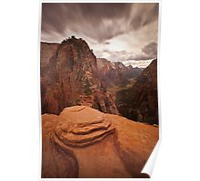 Angels Landing Zion National Park Poster