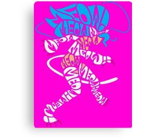 Felicia Typography Canvas Print