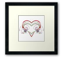 Stylized Heart Framed Print