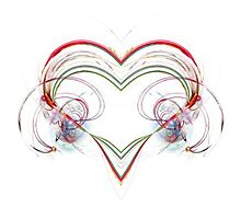 Stylized Heart Photographic Print