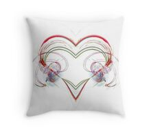 Stylized Heart Throw Pillow
