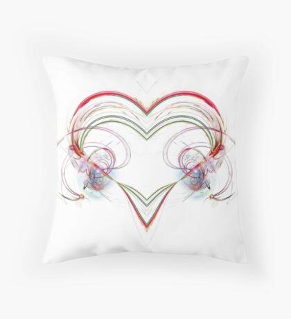 Stylized Heart Throw Pillow
