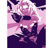 Barbwire - Pamela Anderson Photographic Print