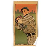 Benjamin K Edwards Collection Browning San Francisco Team baseball card portrait Poster