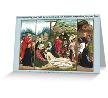 Jan Mostaert's The Lamentation For Christ Greeting Card