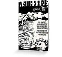 Visit Arrakis Dune Tours Greeting Card
