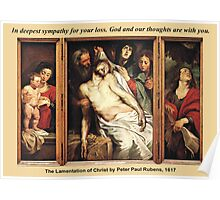 Peter Paul Rubens' The Lamentation of Christ Poster