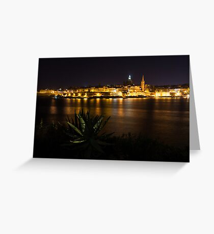 Valletta, Malta Night Magic Greeting Card