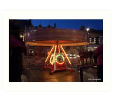 Carousel at dusk Art Print