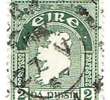Vintage Ireland Postage Map by bluespecsstudio