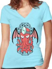 The Call Of Zoidthulhu Women's Fitted V-Neck T-Shirt