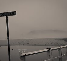 Cuttagee Beach shrouded in clouds by Nick Browne