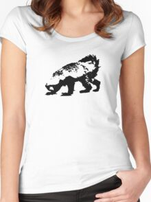 Honey Badger (black) Women's Fitted Scoop T-Shirt