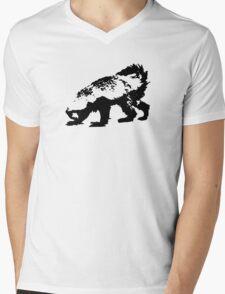 Honey Badger (black) Mens V-Neck T-Shirt
