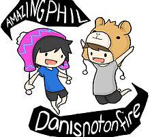 Amazingphil & Danisnotonfire cartoon by pvnkrocklarry