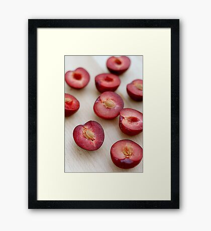 Plums II Framed Print