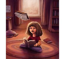 Little Bookworm Photographic Print