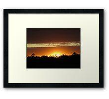 Sunset Glory Framed Print