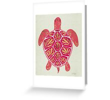 Pink & Gold Sea Turtle Greeting Card
