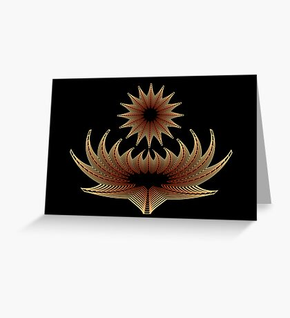 Floral Metamorphosis Greeting Card