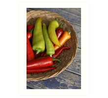 Chillies Art Print