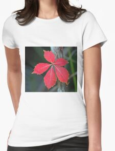 A lonely leaf! Womens Fitted T-Shirt