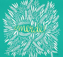Pardon My French – Turquoise & Gold by Cat Coquillette