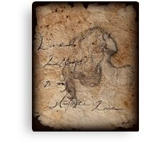 Love Letters To My Infinite Love Canvas Print