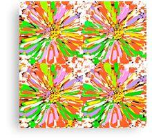 Dahlia Color burst  Flower Abstract Canvas Print
