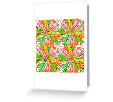 Dahlia Color burst  Flower Abstract Greeting Card