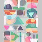 Pastel Geometry 2 by Mareike Böhmer