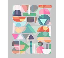 Pastel Geometry 2 Photographic Print