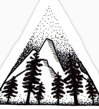 The call of the mountains. Sticker