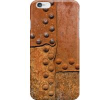 Rusty metal surface with riveted joints iPhone Case/Skin