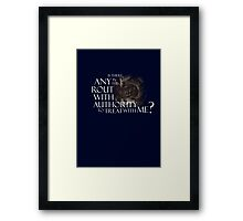 Mouth of Sauron Framed Print