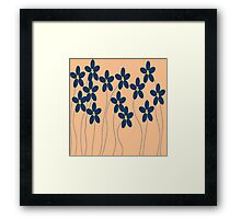 Flowers in orange and blue Framed Print