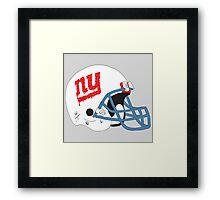 NY Giants Helmet Drips Framed Print